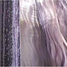 Silver Purple Curtains Romantic Purple Silver Striped Jacquard Energy Saving Curtains