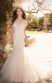 plus size fit and flare wedding dress fit and flare wedding dress with tulle skirt essense of australia