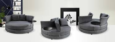 grey fabric modern living room sectional sofa w wooden legs w63 x h32 seat height 17 360 degree spinable 1 199 home