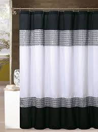 Black And Gray Curtains White Black And Silver Gray Shower Curtain Sequins 72in X 72in