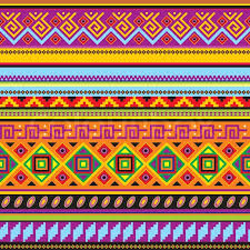 vector seamless background with a mexican ornament stock vector