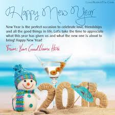 name on new year greetings picture
