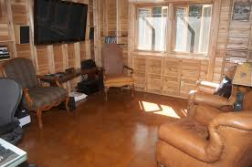 Log Cabin Floors by Concrete Stain Manufacturer Concrete Camouflage Quietly Has