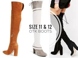 womens thigh high boots size 12 the knee boots for legs sizes 11 12 tallnnatural
