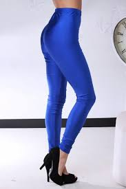 royal blue skinny spandex leggings pants clubwear
