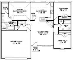 3 Bedroom Floor Plans With Garage 653788 One Story 3 Bedroom 2 Bath French Traditional Style