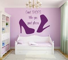 popular girl rooms decor buy cheap girl rooms decor lots from wall decal quote good shoes take you good places fashion vinyl stickers beauty salon decal mural