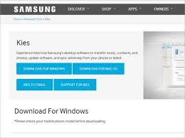samsung kies software for android install uninstall and update samsung kies for mac