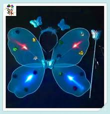 light up fairy wings cheap party led light up flashing butterfly fairy wings hpc 3405