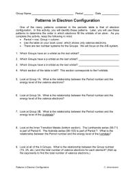 Electron Configuration Worksheet Answer Key Electron Configuration Octet Rule Worksheet