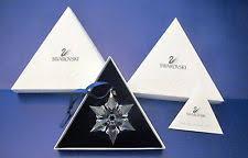swarovski 2000 annual snowflake ornament ebay