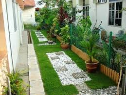 Budget Garden Ideas Narrow Garden Design Low Budget Garden Ideas In Narrow Garden With