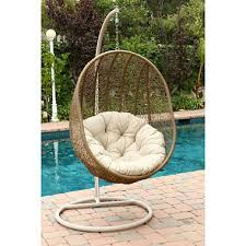 Cocoon Swing Chair Regency Outdoor Light Beige Wicker Swing Chair Sam U0027s Club