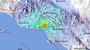 Earthquake Map Los Angeles by Magnitude 4 4 Quake Shakes Southern California Nbc Southern