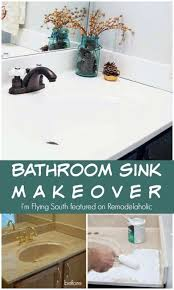 painted bathroom sink makeover i u0027m flying south featured on