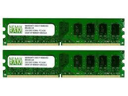 Memory 4gb Pc nemix ram 4gb 2 x 2gb ddr2 533mhz pc2 4200 dimm memory for desktop