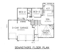 house plans with three car garage traditional style house plan 4 beds 3 00 baths 2900 sq ft plan