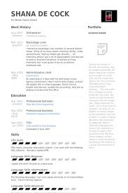 Waiter Sample Resume by Dishwasher Resume Samples Visualcv Resume Samples Database