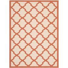 Terracotta Area Rugs by Martha Stewart Living Byzantium Terracotta Beige 4 Ft X 5 Ft 7