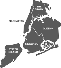 New York Map Districts by Boroughs U0026 Neighborhoods The Official Guide To New York City