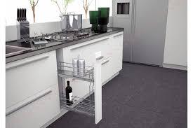 rangement cuisine coulissant aménagement coulissant meuble bas étroit accessoires de cuisines