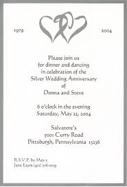 innovative invitation card for marriage 25th marriage anniversary