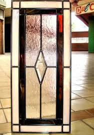 leaded glass kitchen cabinet door swap the red for gold or amber
