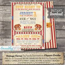 vintage circus invitation
