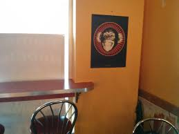 found the defranco monkey poster in a little canadian restaurant