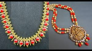 red gold jewelry necklace images Coral necklace in gold designs red coral jewellery jpg