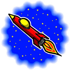 space clipart rocket to moon pencil and in color space clipart