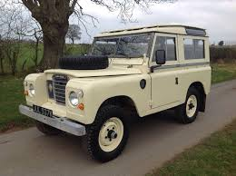 white land rover defender landrover defender 1972 land rover series 3 safari station wagon