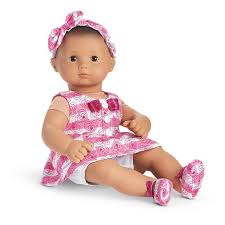 valentines baby hearts stripes valentines for bitty baby doll american girl