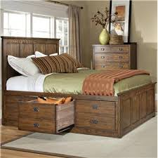 King Storage Platform Bed Intercon Oak Park Mission Bed With Twelve Underbed Storage