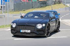 bentley crewe 2018 bentley continental gt prototype photographed at nürburgring