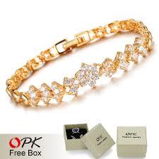 gold wedding bracelet images New fashion gold plated bracelets for women luxury white stones jpg