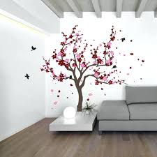 Cherry Blossom Tree Wall Decal For Nursery Blossom Tree Wall Decal Innovative Stencils Wind Blowing Tree