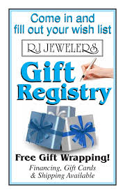 the gift registry rj s gift registry get engaged with rj jewelers