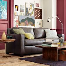 West Elm Henry Leather Sofa Henry Leather Sofa Molasses West Elm How To Clean Leather Couches