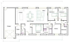 plan maison 100m2 3 chambres plan maison 100m2 plein pied 3 chambres terrassefc