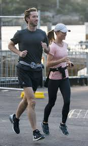 pippa and james squeeze in a jog around the sydney opera house