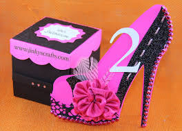 high heel shoe 3d cards it can be a unique mis 15 or sweet 16