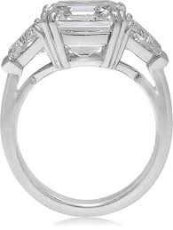 3 diamond rings square emerald cut diamond three engagement ring for sale at