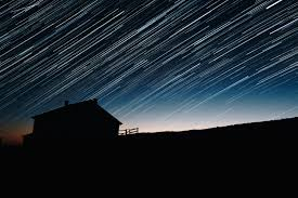 House Silhouette by Star Trails And House Silhouette At Night Astrophotography