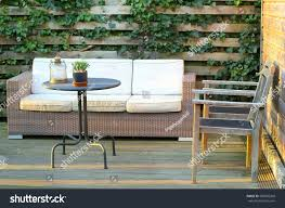outdoor patio lounge furniture backyard natural stock photo