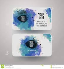 vector template watercolor business cards download from over 35