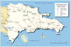 Map Of The Caribbean Islands by Administrative Map Of Dominican Republic Nations Online Project