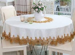 tablecloth ideas for round table impressing round table cloths on elegant hollow out lace embroidered
