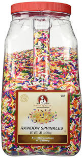 chef s quality rainbow sprinkles 7 lb grocery