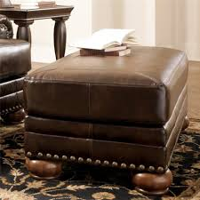 Tufted Storage Bench Ottomans Tufted Leather Ottoman Studded Ottoman Danbury Tufted